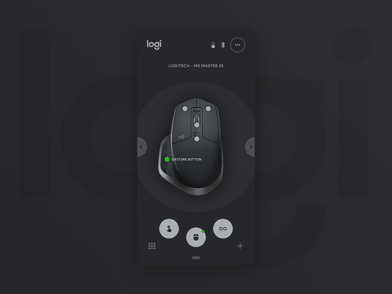 Logitech Options App For Android - Concept (Dark Mode)