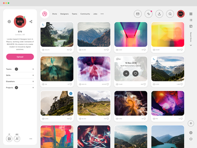Dribbble Profile Page - Redesign Concept