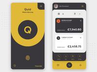 Mobile banking app dribbble light