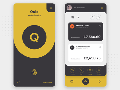 Mobile Banking App - Concept