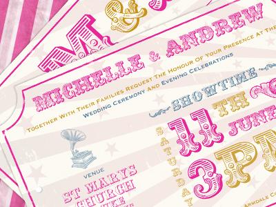 Carnival Wedding Invitations By Hugh Collier Dribbble Dribbble