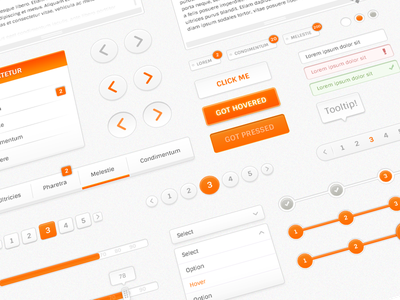 Orangeek Web Kit orange orangeek web web kit kit progress menu steps tags input slider pagination