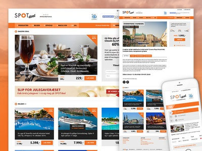 SPOTdeal redesign discount offer deal spotdeal tablet mobile web