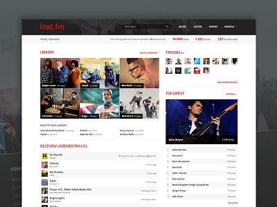 Last.fm stats - redesign tracks artists scrobble stats statistics list tracking music last.fm lastfm web