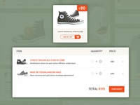 Webshop - add to cart / checkout