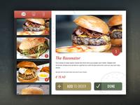 iPad menu browsing/order system