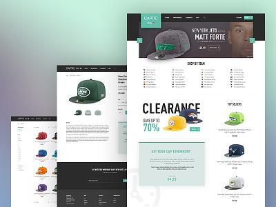 Webshop product listing product football nfl store e-commerce shop clothing cap ecommerce webshop