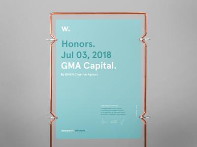 Awwwards for GMA Website 2018!