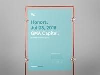 Awwwards for GMA Website 2018!