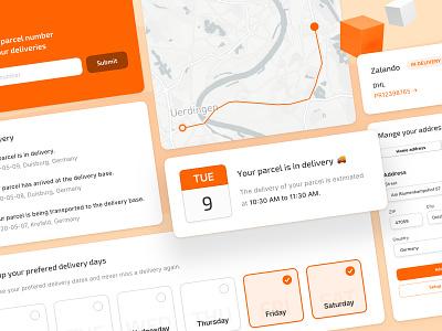 📦 Parcel Tracking Webapp UI Elements modules webapp web ux ui interface fintory desktop design dashboard clean ui app