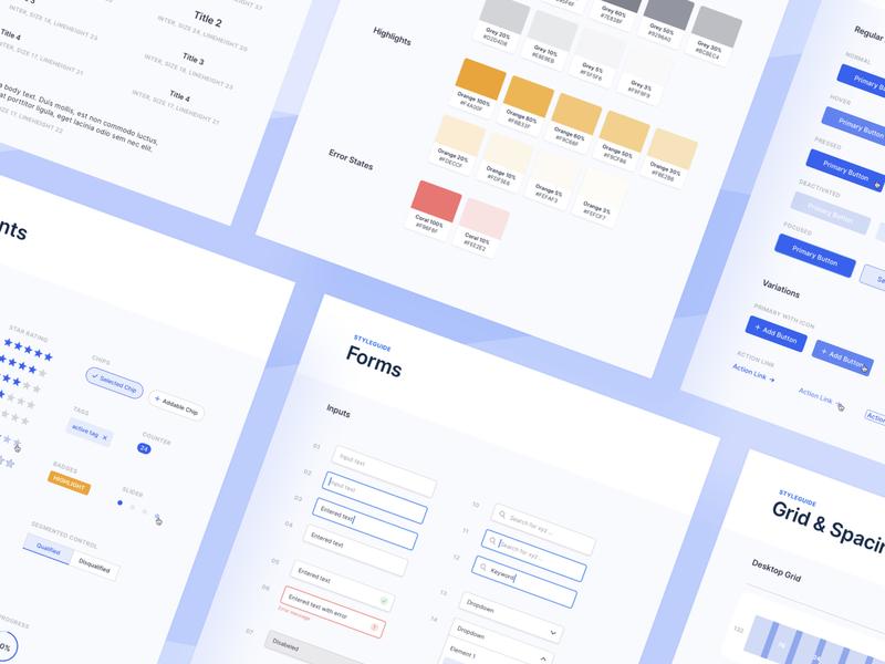 Internal Style Guide ✨ clean ui branding website design modules webapp web ux ui interface desktop design
