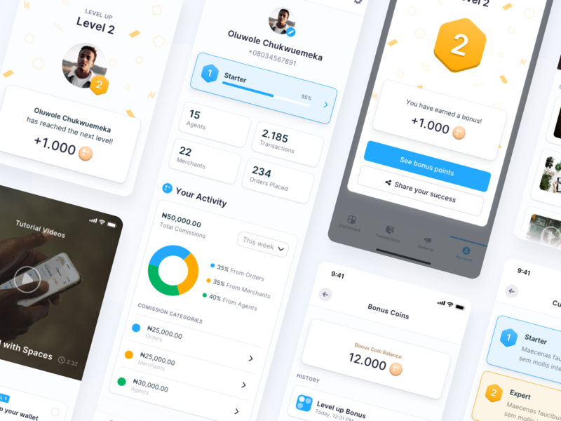 Spaces Super App Gamification 🕹 modules fintory mobile design ux ui application user engagement app design gamification app interface clean ui