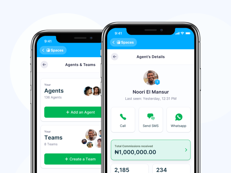 In-App-Application: Agents and Teams 🤝 application app design modules app ux fintory ui interface design clean ui