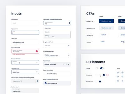 🌟 Banking UI Elements radio button web desktop ux ui interface fintory design clean ui inputs buttons