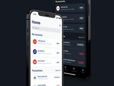 Finance App with Dark 🌙 and Light ☀️ Mode dashboard light mode dark mode ui ux interface fintory design clean ui