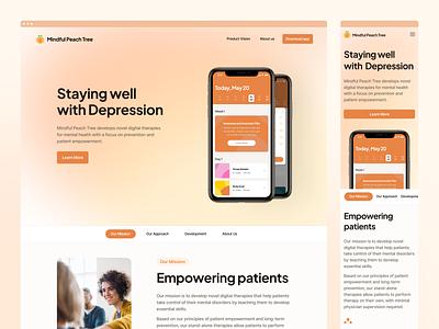 🍀 Mental Health Website app ios product page website landing page landingpage branding desktop ux ui interface fintory design clean ui