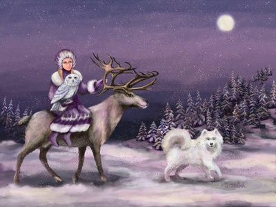 Polar night walkers 💫 🌓