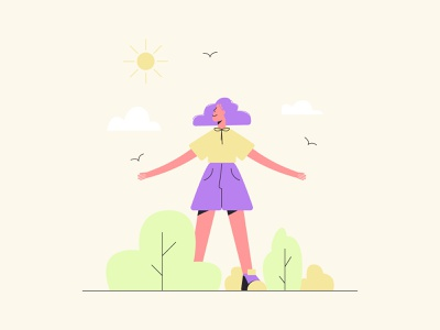Happy girl. character happiness cute character illustration character design modern flat vector art illustration 2d 2d illustration vector illustration web illustration