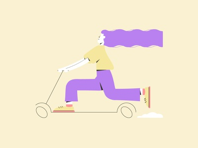 Оn a scooter character design modern flat scooter activity lifestyle illustration 2d web illustration illustration for web character flat illustration 2d illustration character illustration vector illustration illustration