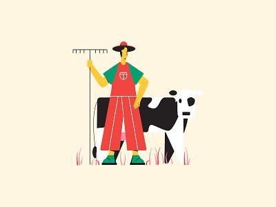 Gentle farmer web illustration illustration 2d character 2d illustration illustration for web flat illustration character illustration vector illustration illustration