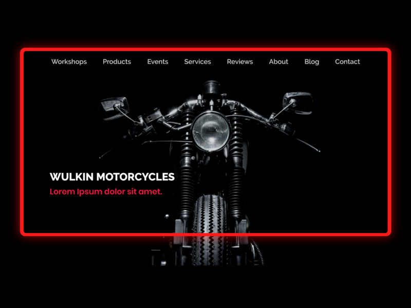 Wulkin Motorcycles Home Page black red automotive motorcycle adobe xd interface visual design website design interaction ui design webdesign landing page design landing page
