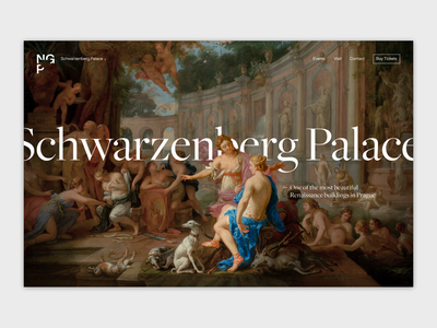 National Gallery Prague museum landing webdesign website ux ui