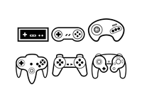 Video Game Controllers Icons