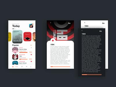 Book Reading / Shop App UI branding art elegant simple mobile ux ui minimalist abstract adobe xd reading book shop shop design daily ui dailyui minimal 2d app