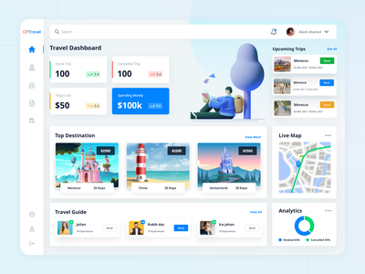 Travel Web App template design logo illustration trendy design discover booking app uidesign clean ui tourism trip adventure app ui travel agency travel app web app design travel