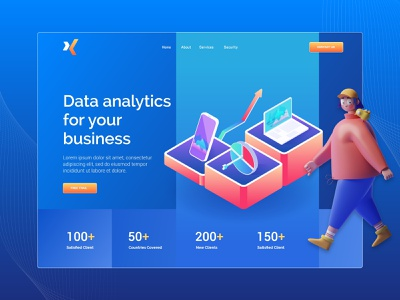 Analytics Landing Page Design app header exploration homepage analytics ux website ui agency uidesign minimal clean ui  ux design landingpage
