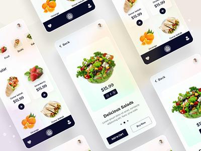 Food Delivery App mobile app homepage design trendy design uxdesign landingpage illustration uidesign minimal clean ui  ux design website food delivery app app design
