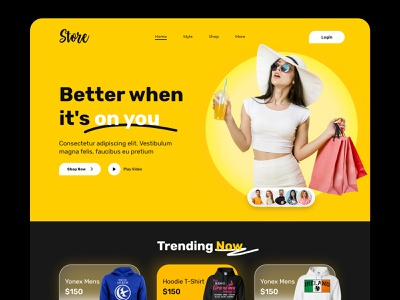 Clothing Website Design V2 illustration clean minimal landingpage online store fashion ecommerce app appstore webdesign header design uiux design responsive design website uidesign