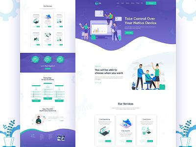 SaaS Landing Page web uidesign design landingpage typography agency template responsive minimal clean color saas landing page saas