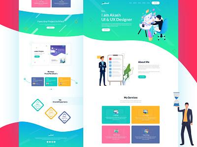 Portfolio Website Design ui  ux typography responsive design illustration uidesign website template clean color landingpage personal portfolio