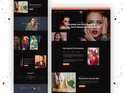 Beauty Salon landing page color beauty typography minimal ui  ux clean design website template responsive landingpage beauty product beauty salon