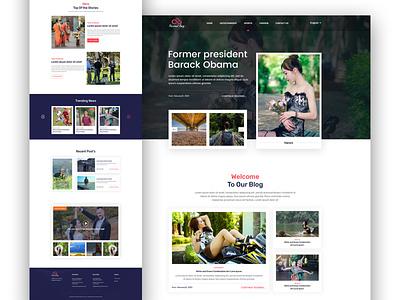 Blog Landing Page Design new design 2020 trend clean design minimal blog post ui  ux design uidesign illustration website template responsive landingpage blogging blog design