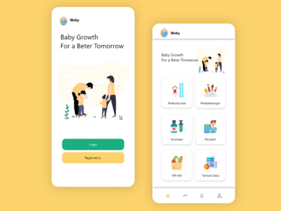 iBaby - Child growth monitoring application app design child ui ux
