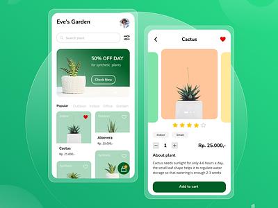 Plant Shop App shop app uiux plant uidesign plant app plant shop mobile app design ui