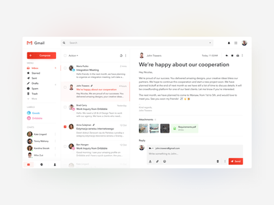 Gmail Re-design colors typography mobile design interface photos design mobile desktop ios app app design web design designer mail google gmail ux ui ux design ui design