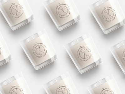 The Contemporary Candle Company flat minimal icon typography vector branding design identity logo clean brand packaging