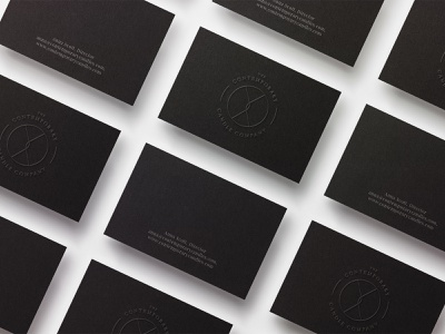 The Contemporary Candle Company brand identity flat minimal icon vector typography logo branding business card