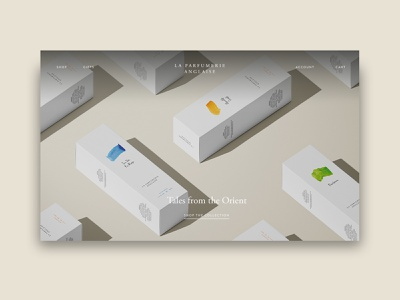 La Parfumerie Anglaise Website branding logo typography user experience user interface website web design ux ui