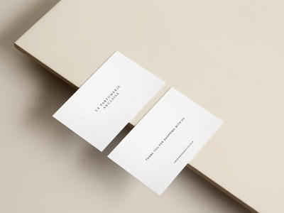 La Parfumerie Anglaise Business Card print brand identity design business card typography logo branding