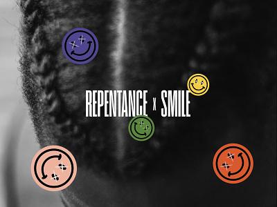 REPENTANCE x SMILE shape ecommerce icon vector logo branding web design ux ui