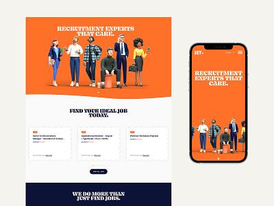 iET user interface layout user experience illustration branding website web design ux ui