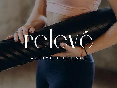 Relevé Clothing: Logo typography design branding logo
