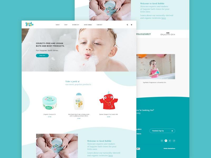 Good Bubble website ux ui typography parallax serif minimal grid clean home
