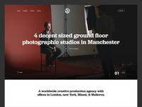 Production Agency Header Exploration