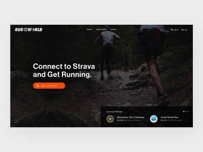 Run for the World user experience web design user interface layout ecommerce website design web ux ui