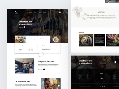 Harts Head - Homepage elements illustration typography user experience user interface layout website design web ux ui